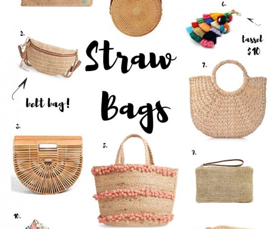 straw raffia bamboo jute bags