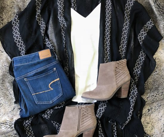 ruana booties kimono