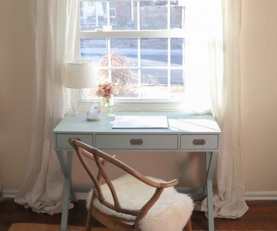campaign desk blue